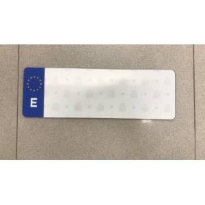 Matriculas eco de plástico tamaño reducido tipo Alfa