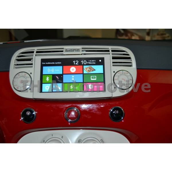 sistema de navegaci n radio gps para fiat 500 blanco brilliant ih automotive. Black Bedroom Furniture Sets. Home Design Ideas