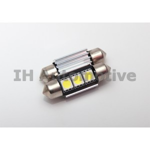 Bombilla led CANBUS C5W / Festoon con 3 leds smd. 36 ó 39mm